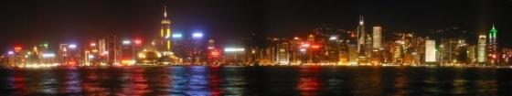 Hongkong nightime skyline