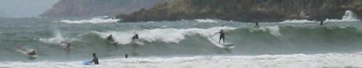 Surfers at Big Wave Bay